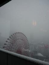 大阪駅附近の雪