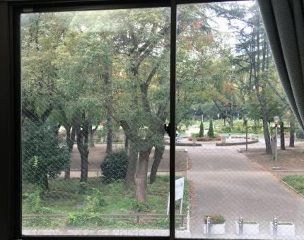 公園前のオフィス