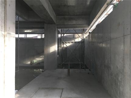高松のガレージハウスコンクリート