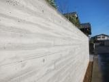 杉板型枠打ちっぱなしの塀