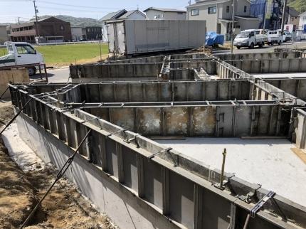 福山の家 基礎コンクリート
