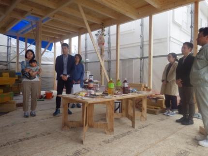 堺の家上棟式挨拶 (2)