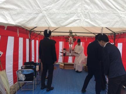 兵庫宝塚の地鎮祭1