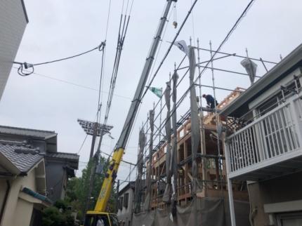 大阪建築家住宅棟上