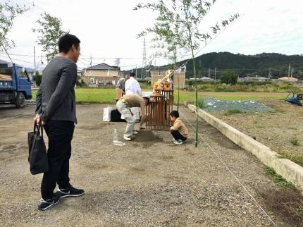 愛媛にて地鎮祭