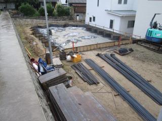 広島コンクリート打設