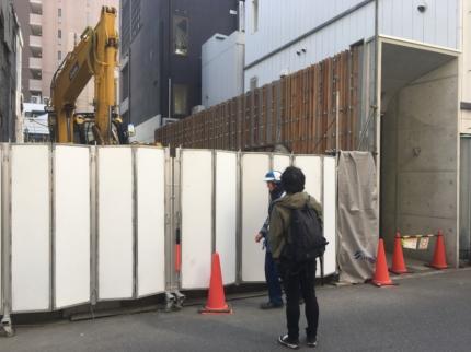 大阪のビル解体進行