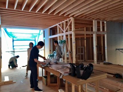 福山の家 建て方後
