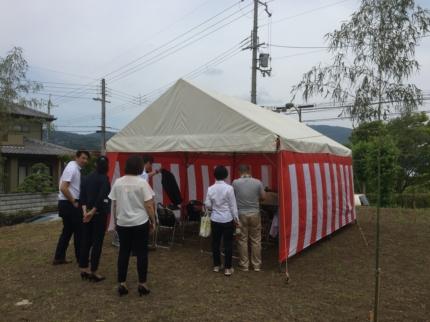 奈良:平群の家地鎮祭