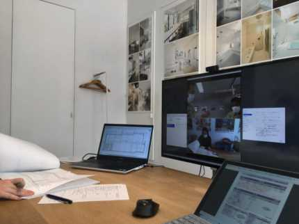 建築ビデオ会議打合せ