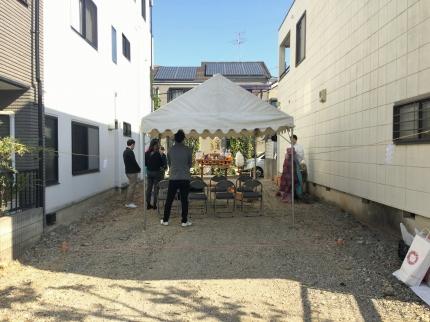 堺にて地鎮祭