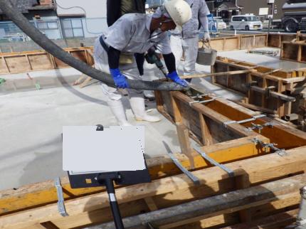 京都舞鶴の美容室 コンクリート打設