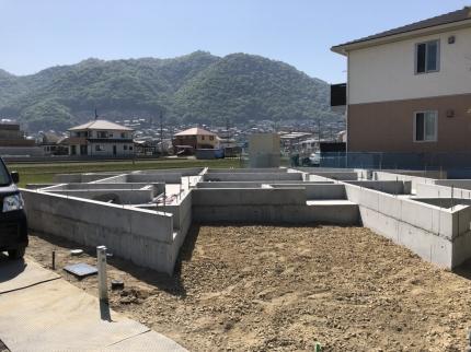 広島福山の家基礎完成