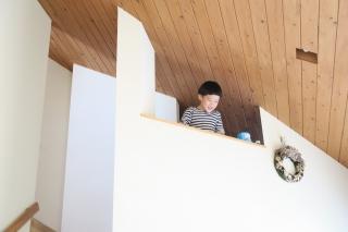 神戸の家ロフトの様子