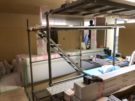 香川のガレージハウス洗面台