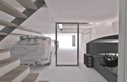 京都のガレージハウス