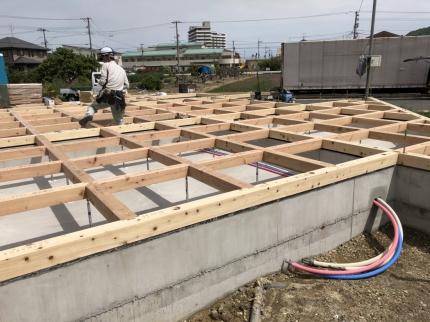広島福山の家土台敷