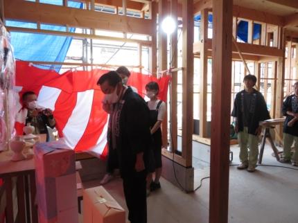 京都にて上棟式