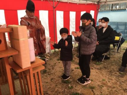 兵庫甲子園の家地鎮祭 (1)