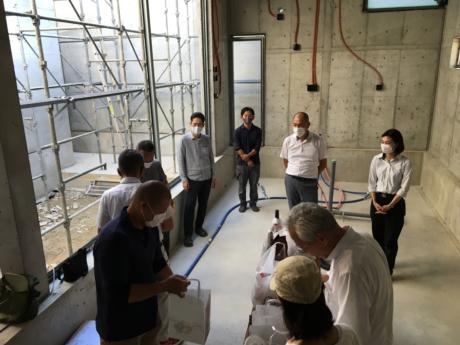大阪光明池の家上棟式 (2)
