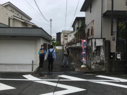 大阪府八尾市に敷地調査