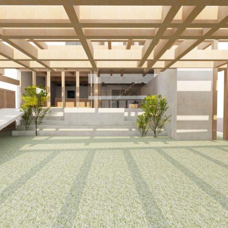 大阪鶴見の家の庭