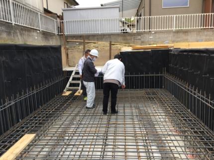 大阪:光明池の家配筋検査