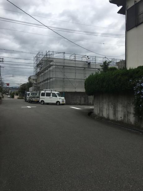 大阪:光明池の家鉄筋コンクリート外壁