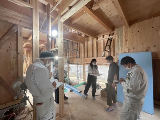 大阪:吹田の家現地打合
