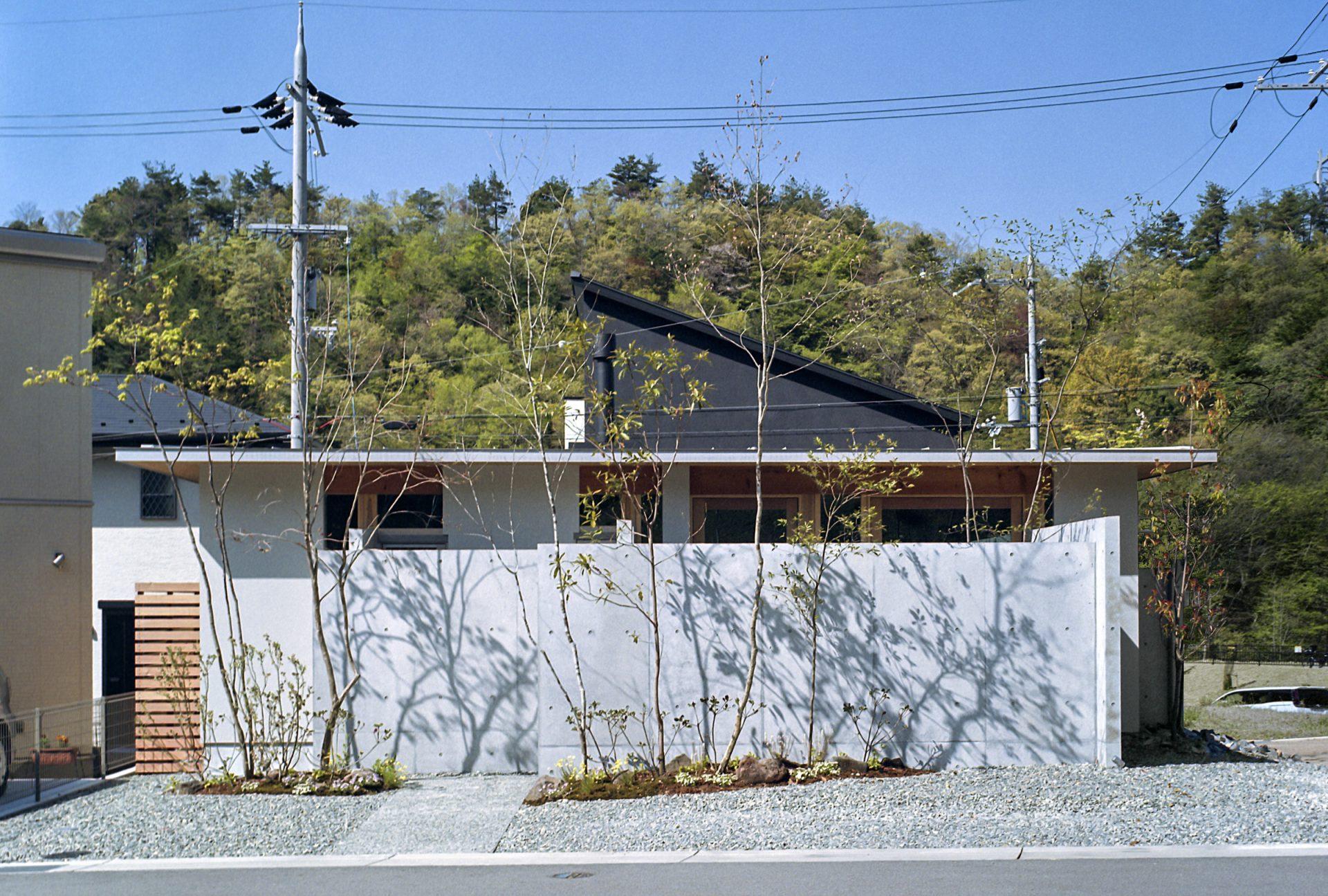 大阪箕面森町にある鉄筋コンクリート(RC)の平屋の注文住宅|住人十色で放送の外観