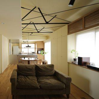 奈良広陵のリノベーションのLDK01