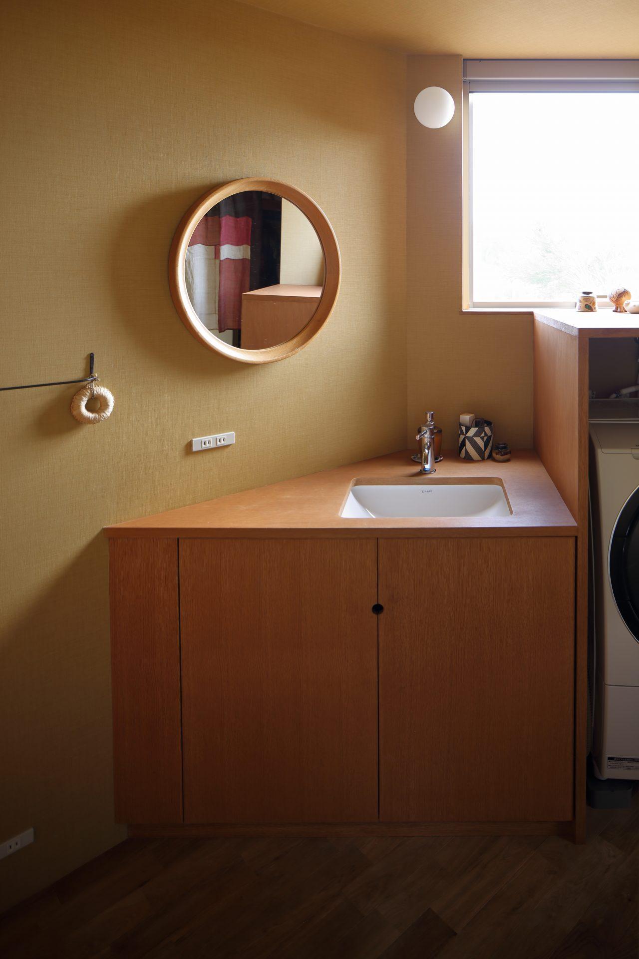 兵庫神戸北の家の洗面室