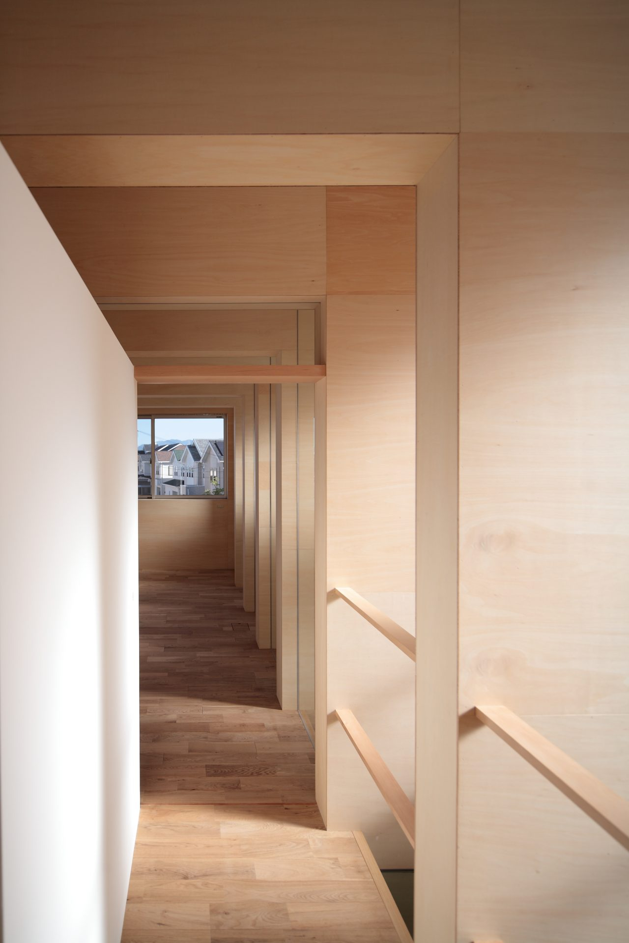 大阪北野田の家の2階廊下