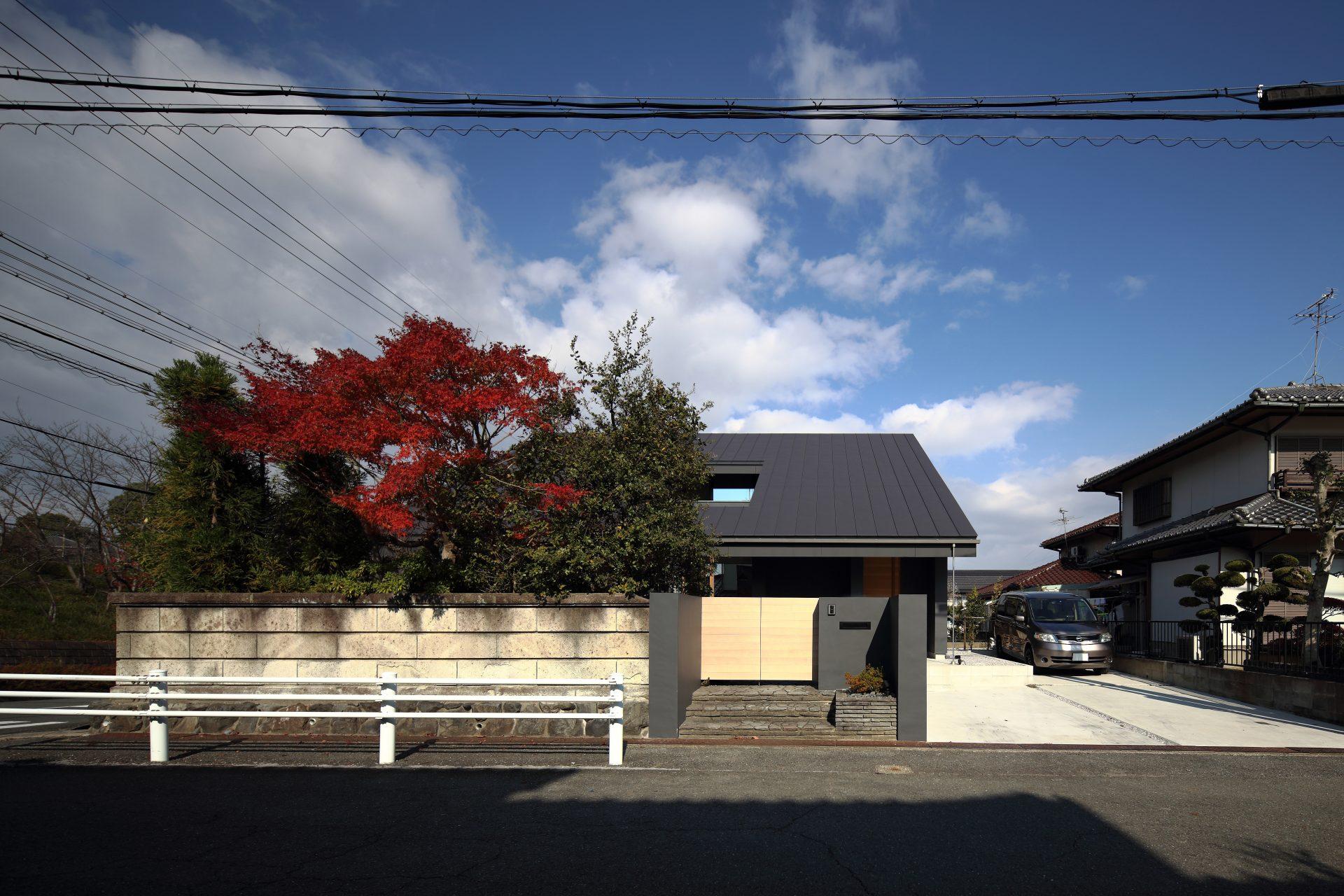 奈良片流れの家の外観01