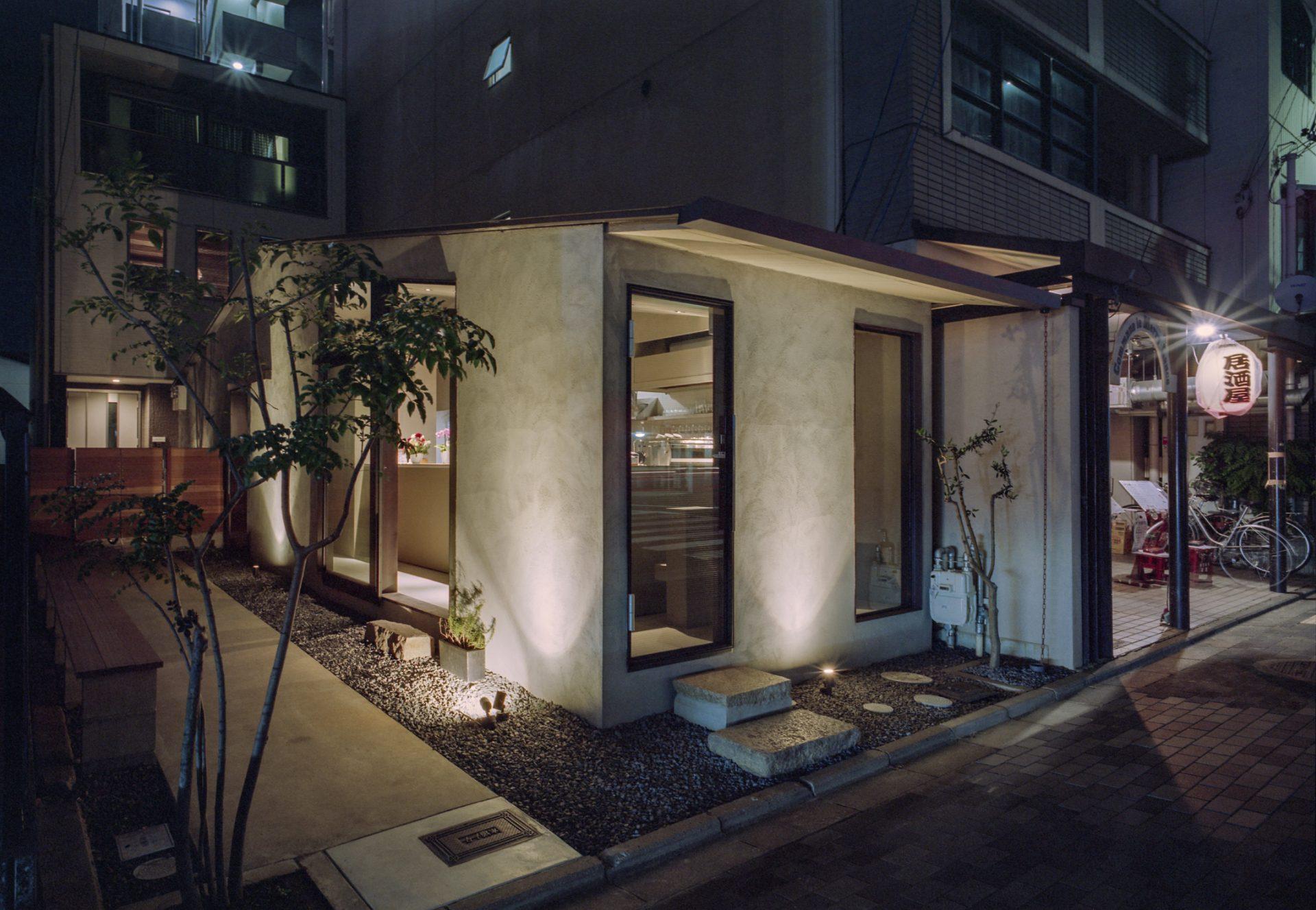 京都MIZOの外観(夜景)02