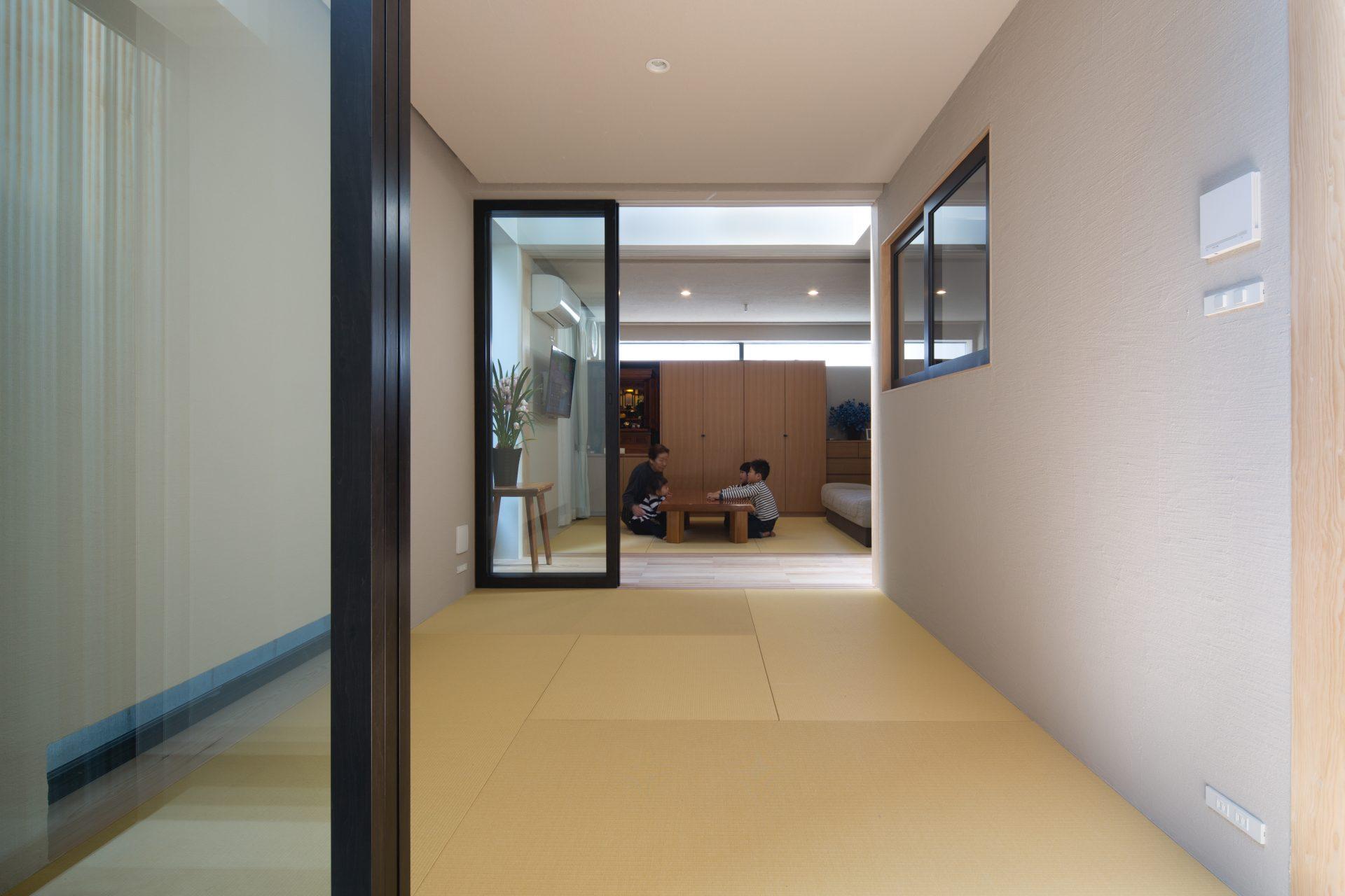 徳島3世帯の家の和室