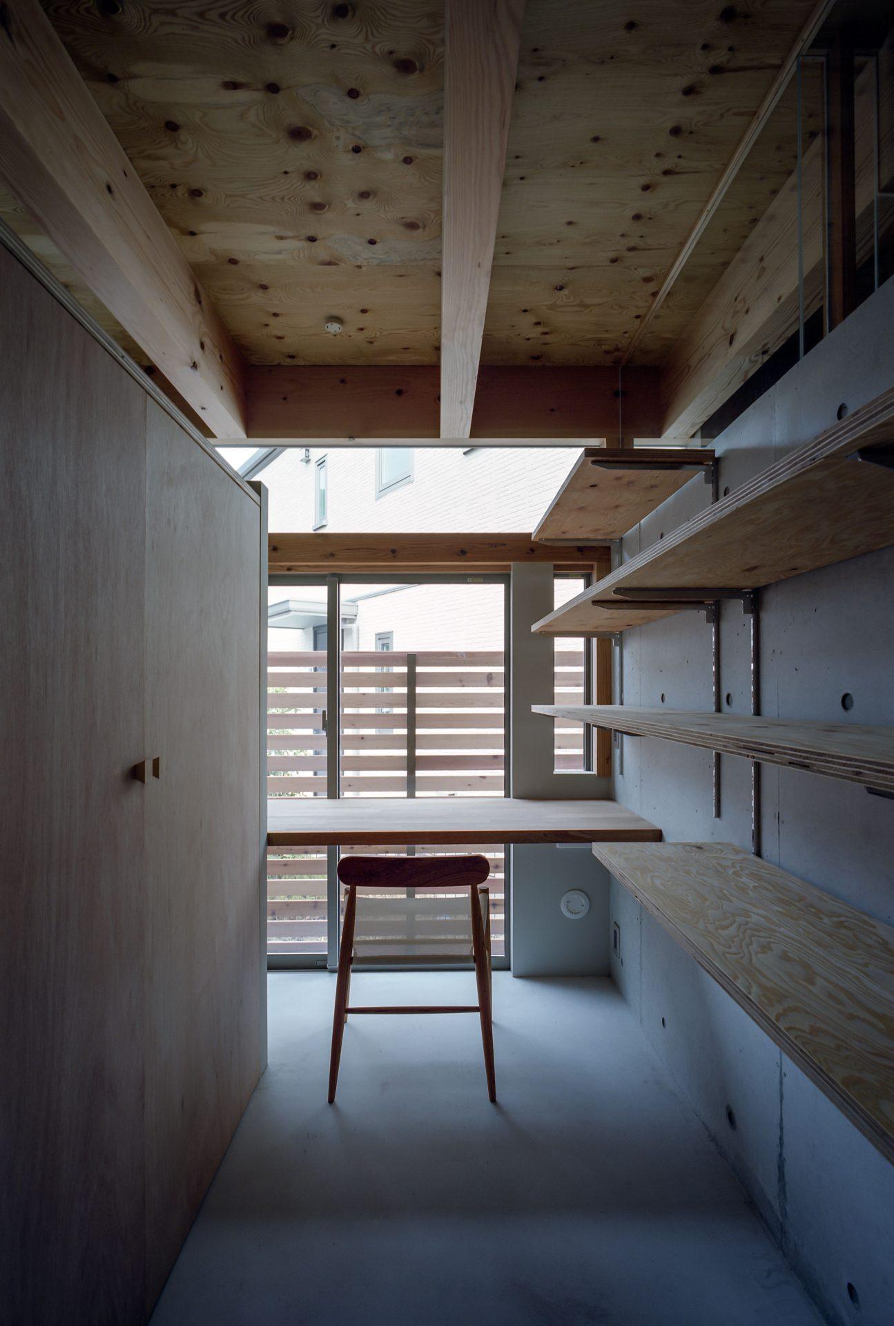 大阪箕面森町の家の書斎