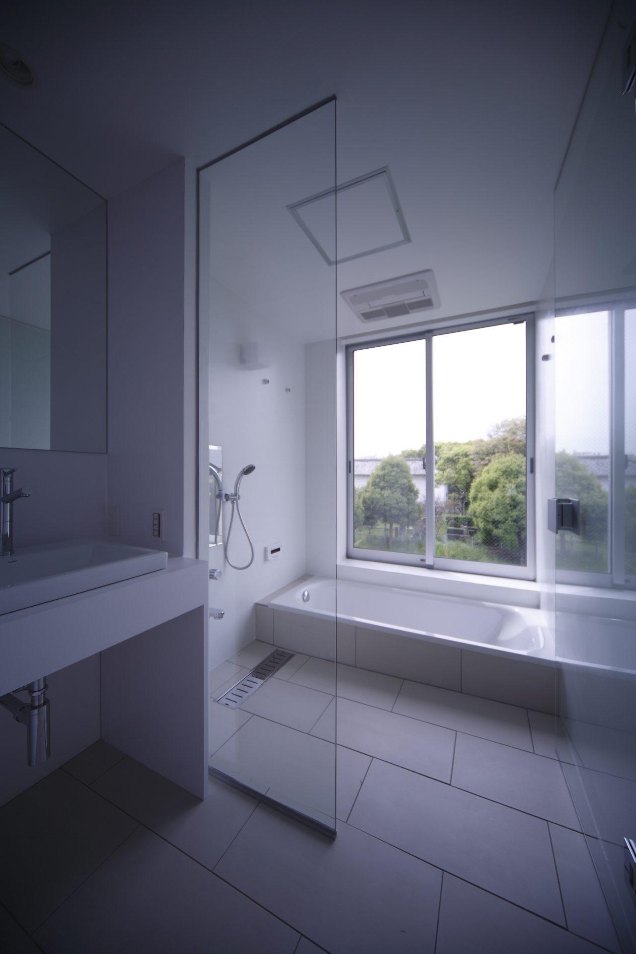 大阪天王寺の家の浴室