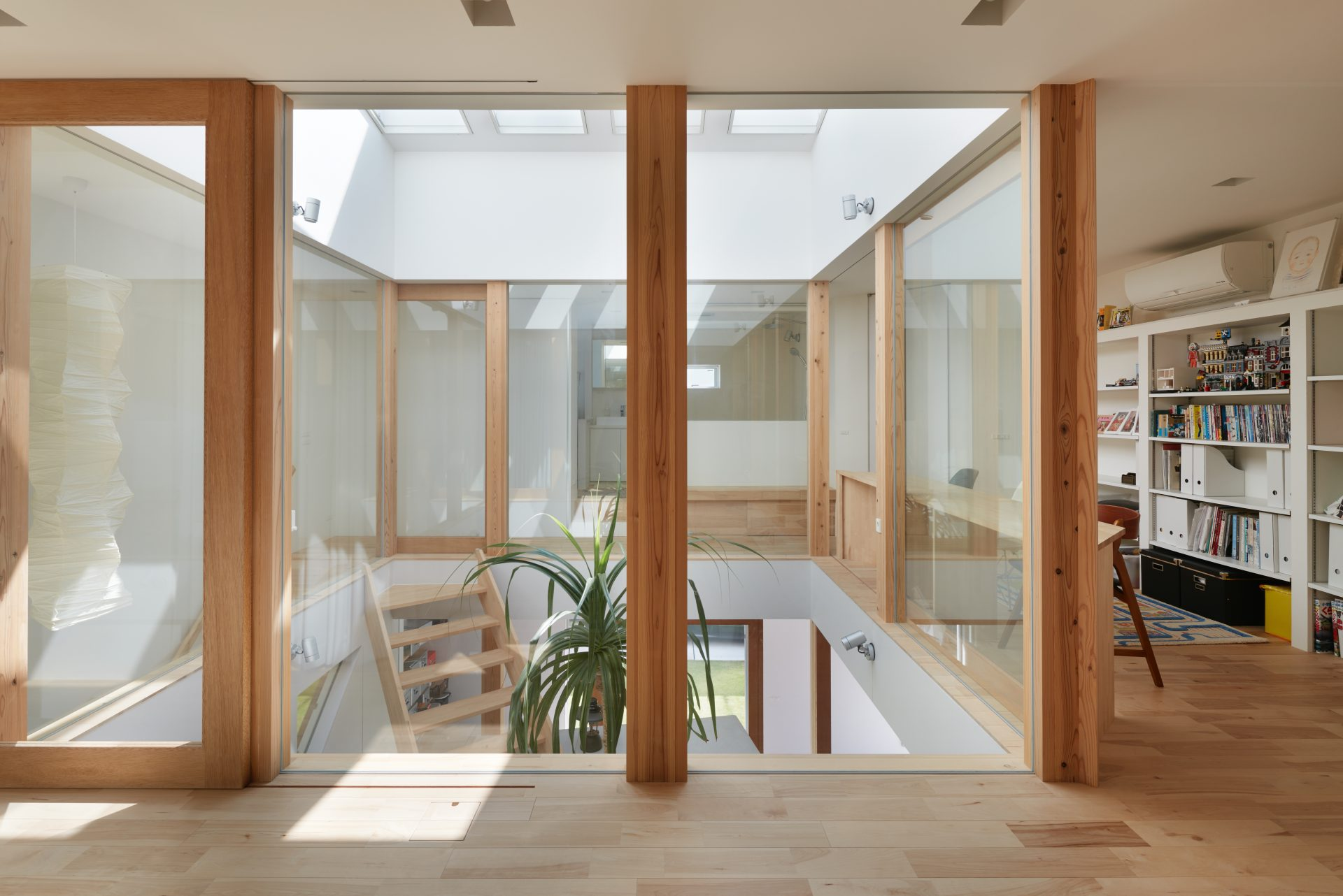 大阪松原の家の寝室