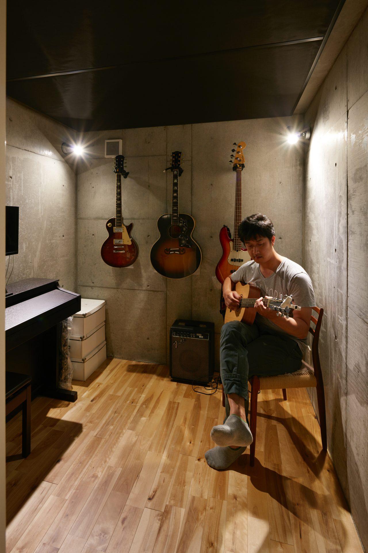大阪松原の家の音楽室