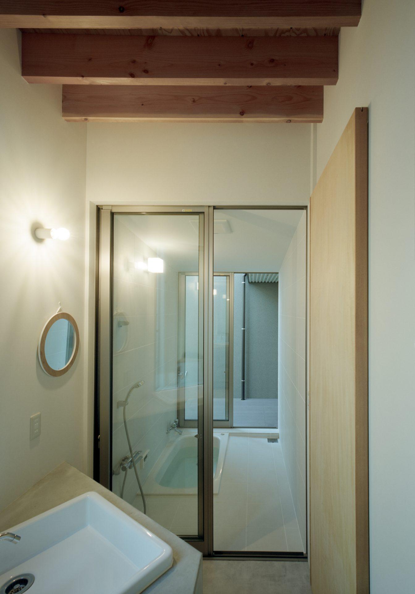 広島東広島の家の洗面室