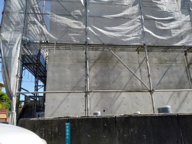 大阪光明池の家鉄筋コンクリート外壁