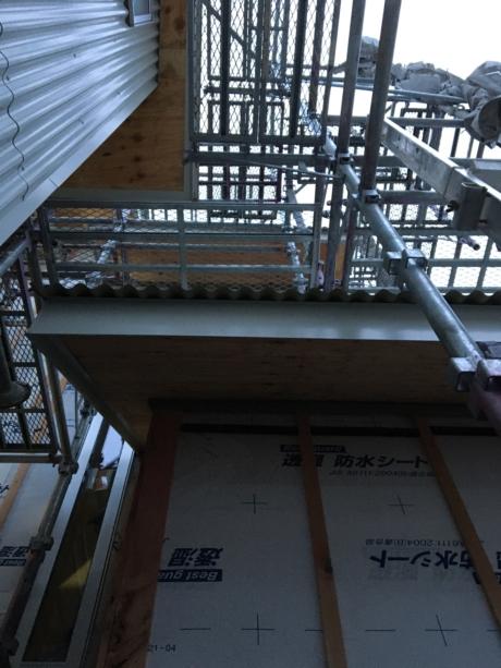 兵庫甲子園の家現場屋根