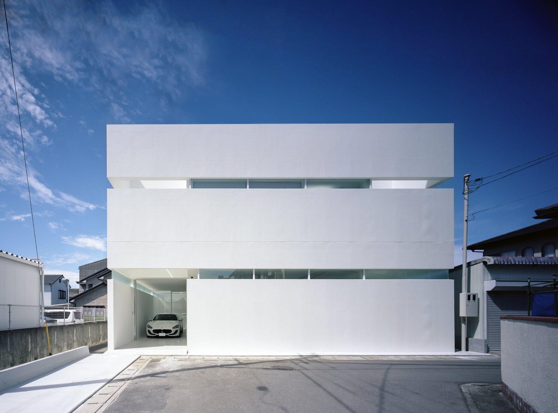 香川高松のガレージハウスの外観01
