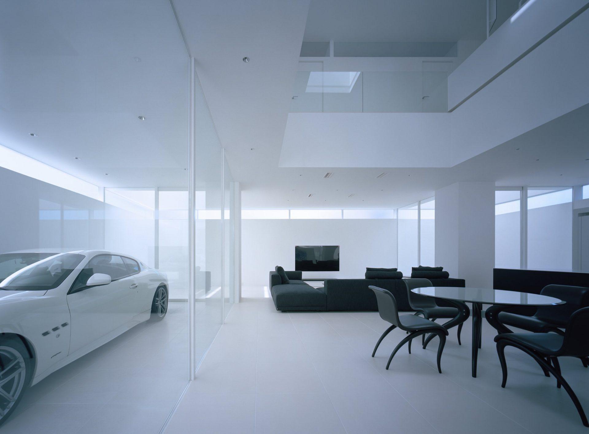 香川高松のガレージハウスのLDK01