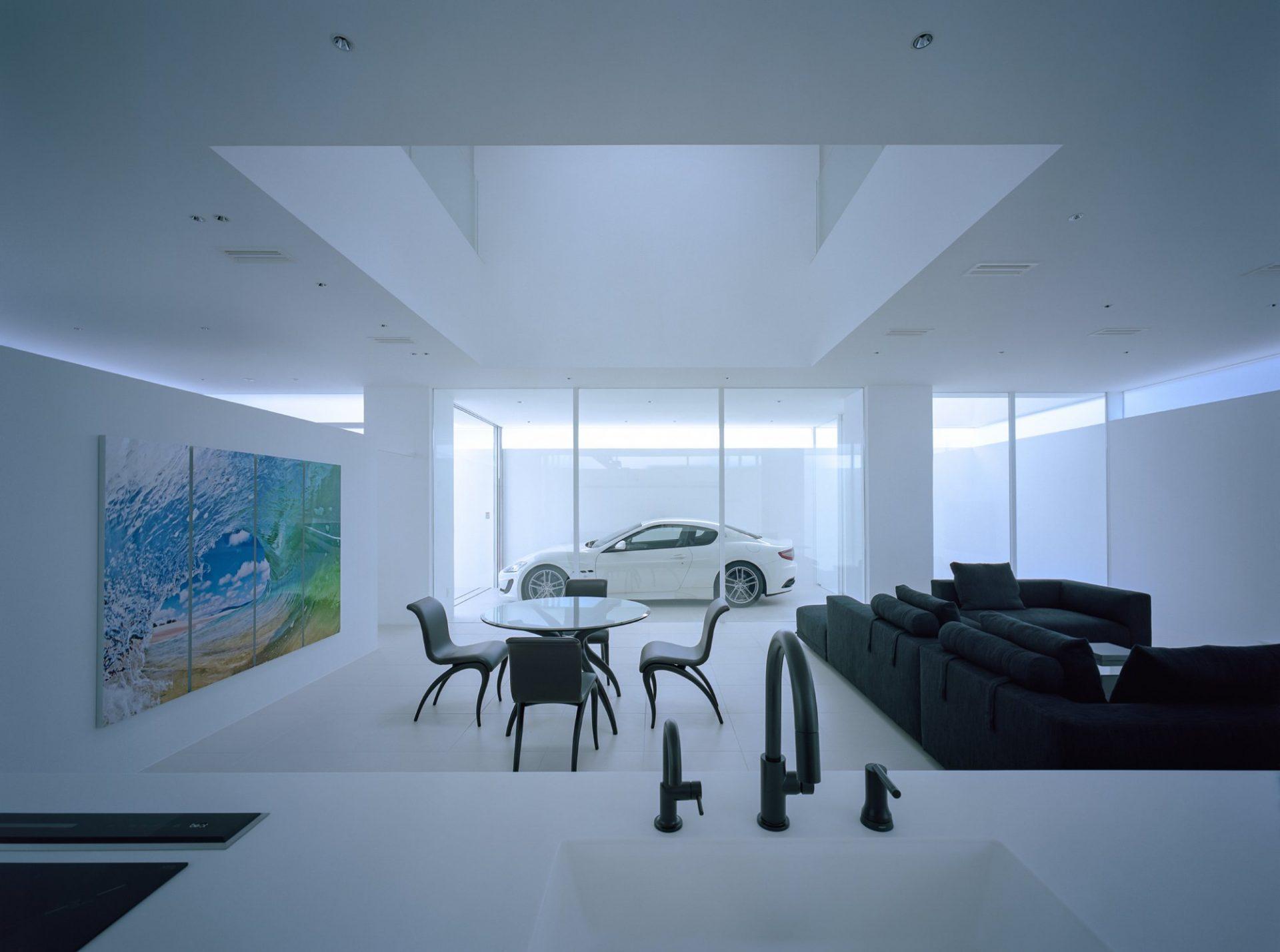 香川高松のガレージハウスのLDK03