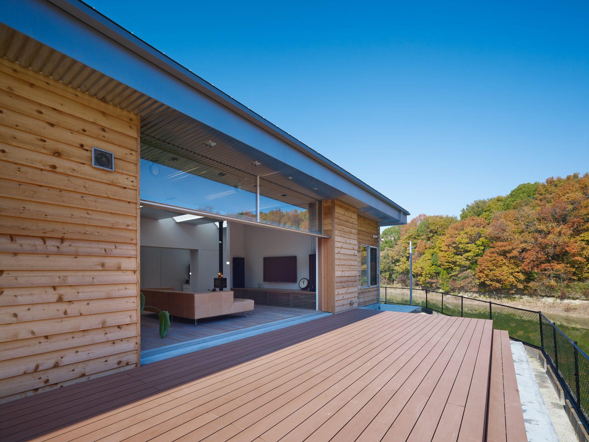 大阪南河内の家のテラス
