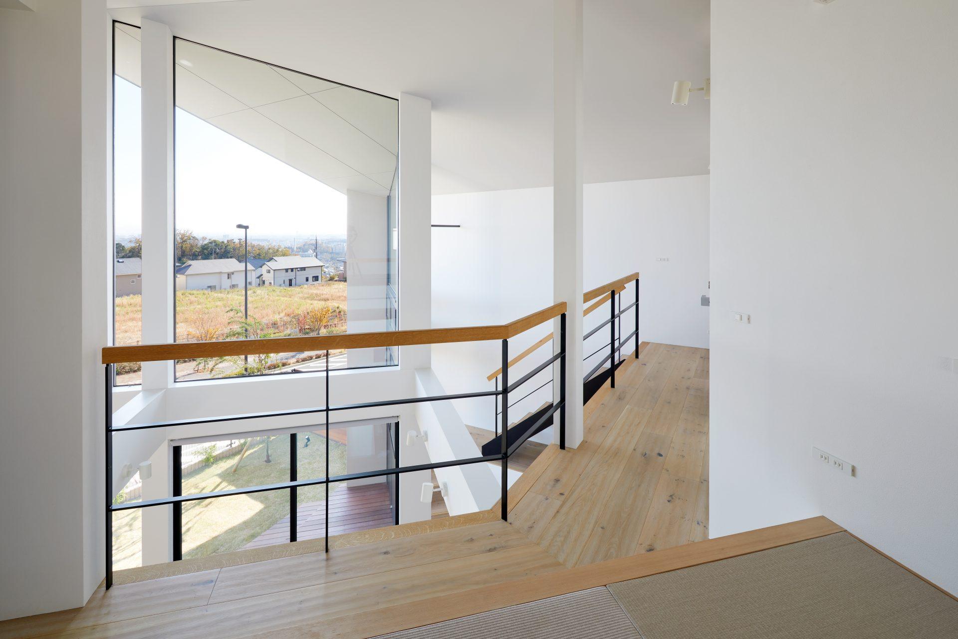 大阪箕面北の家の2階通路