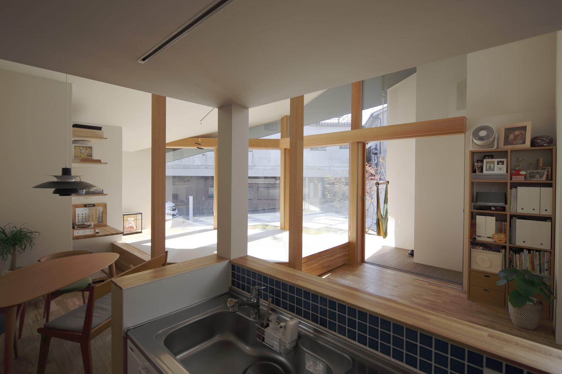 京都向日の家のキッチン