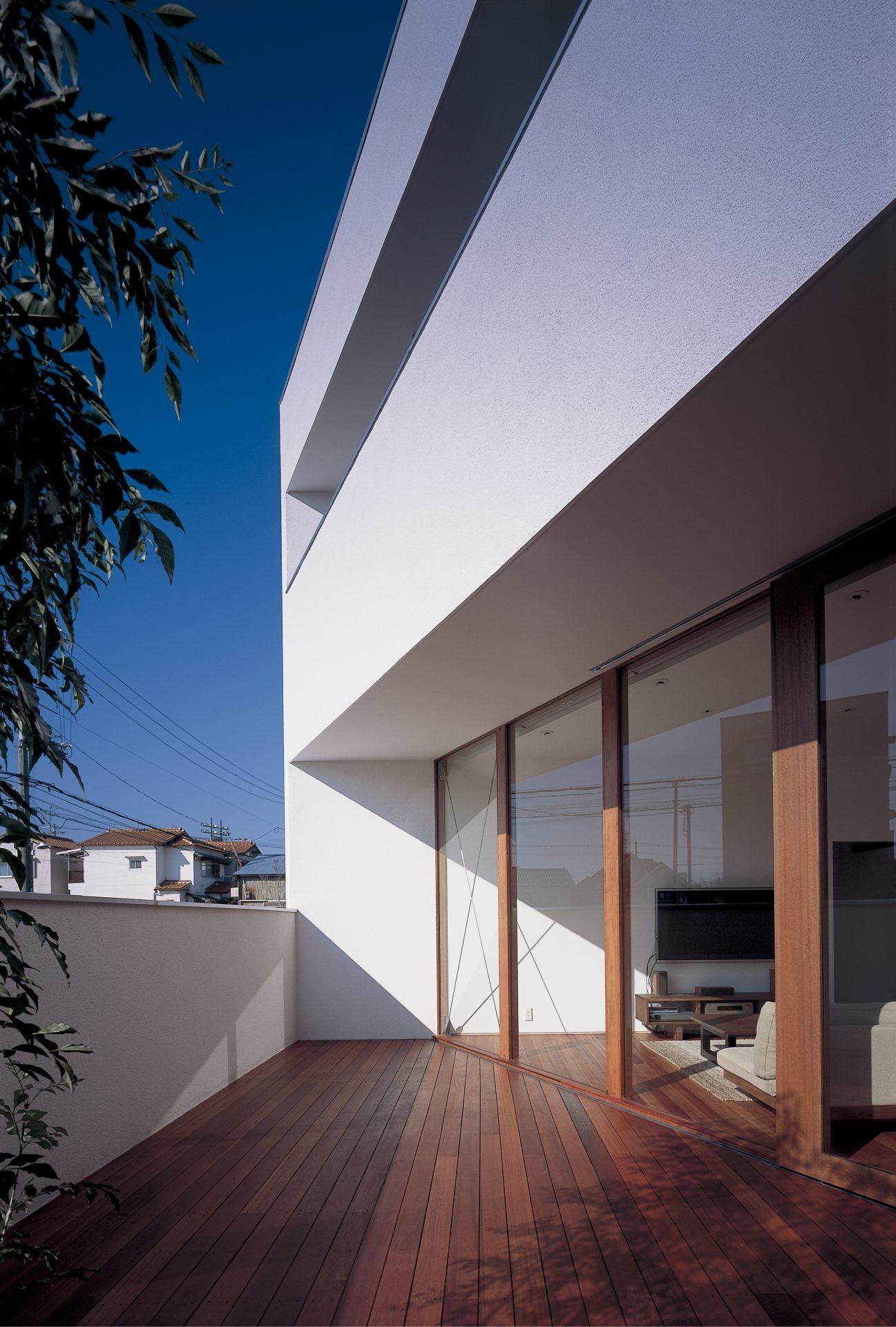 大阪百舌鳥の家のテラス